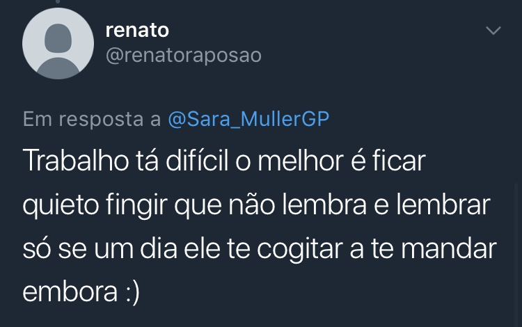 Print Resposta Enquete Twitter @renatoraposao Renato
