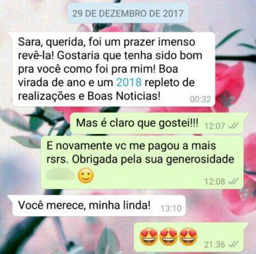 WhatsApp Sara Müller e Atencioso