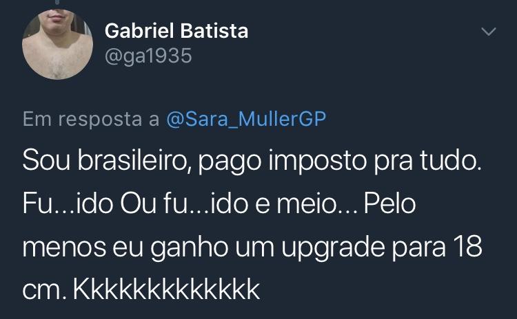 Resposta Enquete Twitter Sara Müller @ga1935