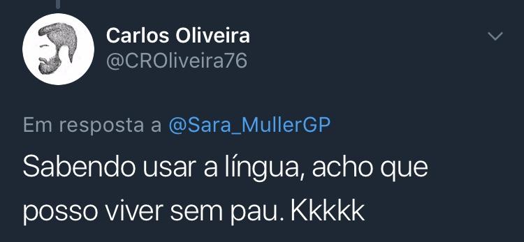 Resposta Enquete Twitter Sara Müller @CROliveira76