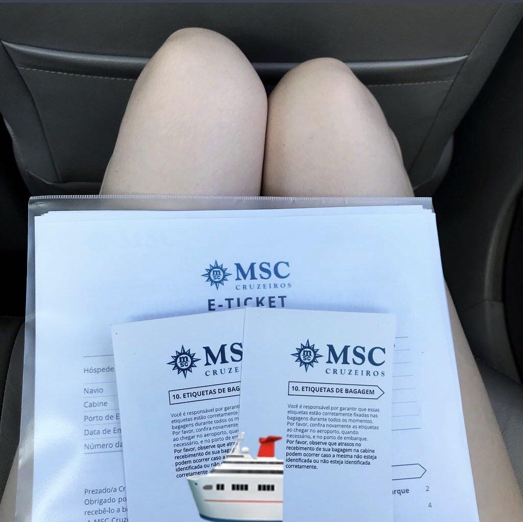 Sara Müller E-ticket MSC Cruzeiro Organizado