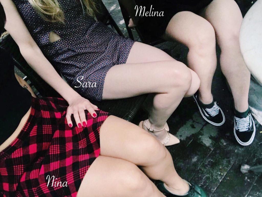 Nina, Sara e Melina