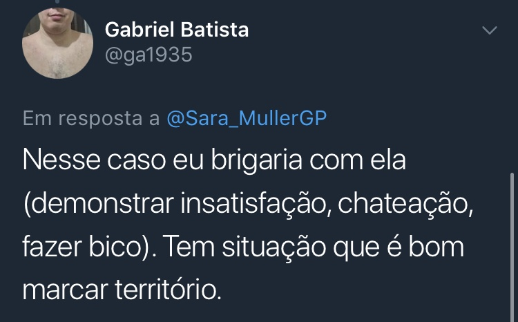 Print Resposta Enquete Twitter @ga1935 Gabriel Batista
