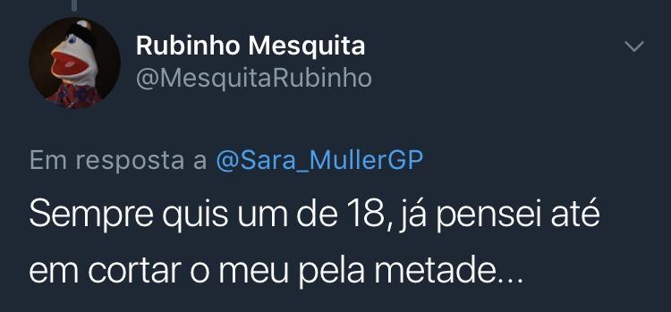 Resposta Enquete Twitter Sara Müller @MesquitaRubinho