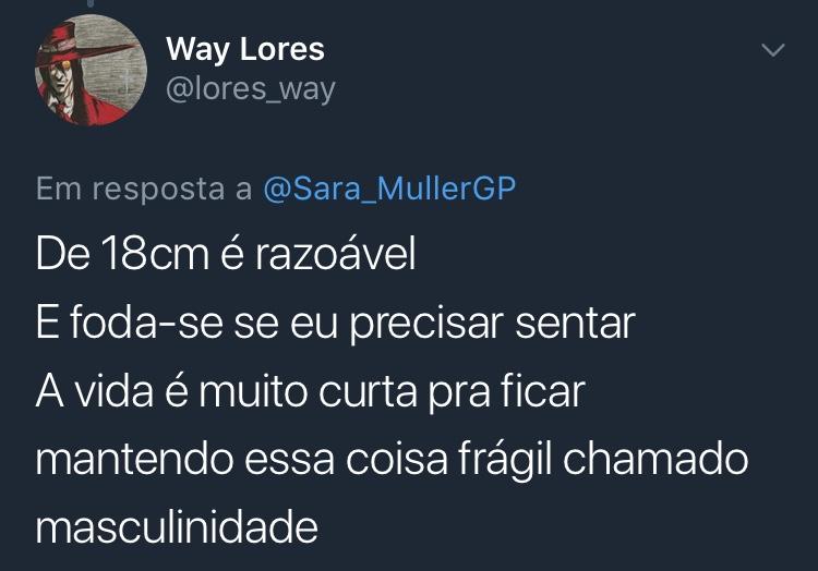 Resposta Enquete Twitter Sara Müller @lores_way