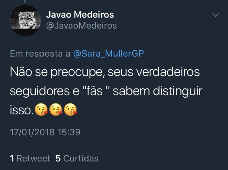 Twitter @JavaoMedeiros