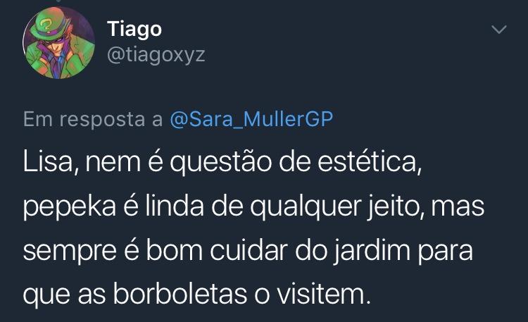 Resposta Enquete Twitter Sara Müller @tiagoxyz