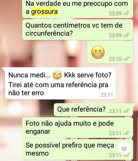 WhatsApp Sara Müller e Desconhecido