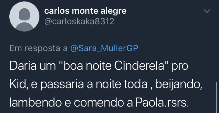 Resposta Enquete Twitter Sara Müller @carloskaka8312