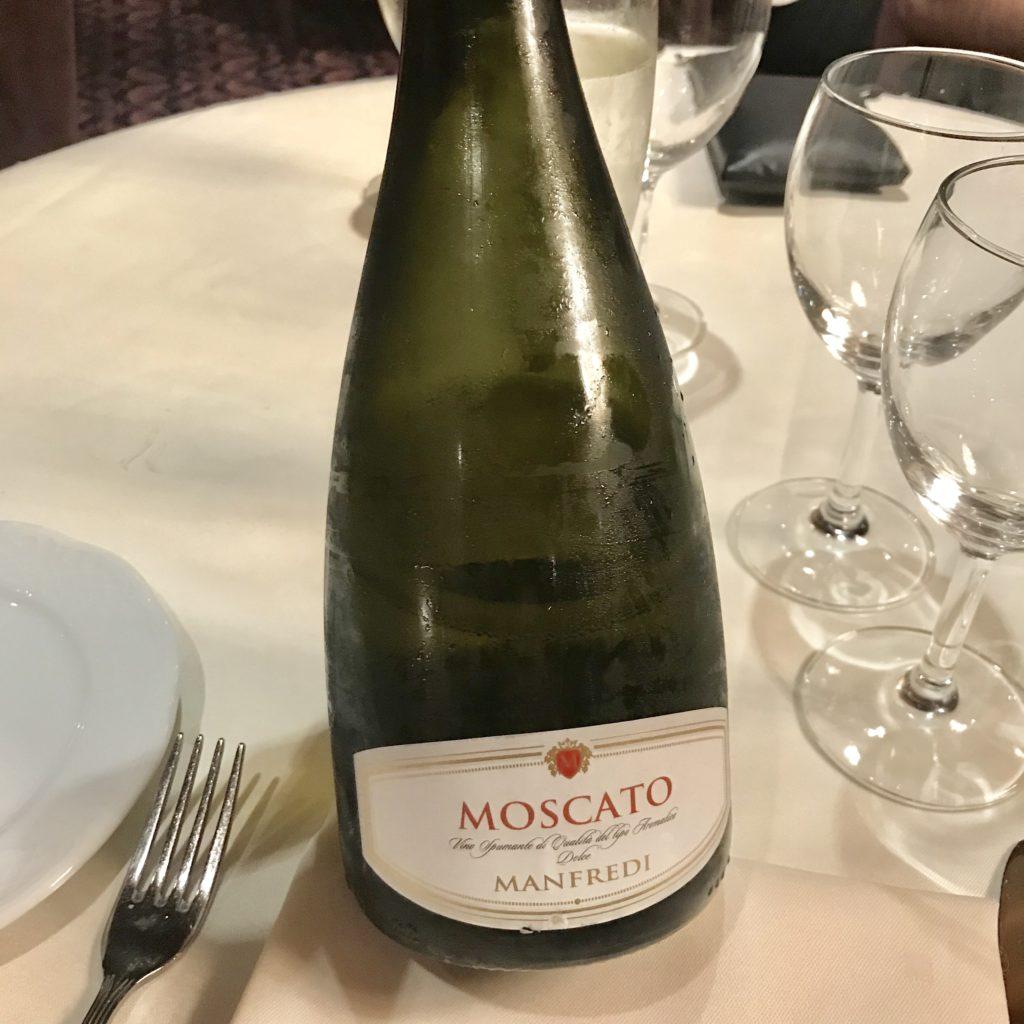 Vinho Moscato MSC Magnífica Cruzeiro Organizado