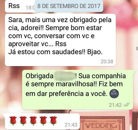 WhatsApp Sara Müller e Contente