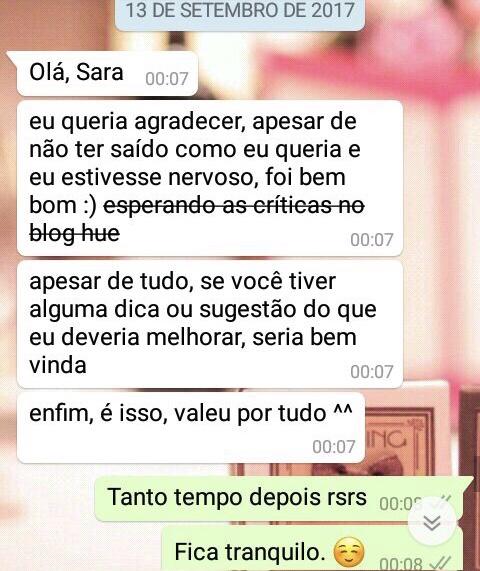 WhatsApp Sara Müller e Inexperiente
