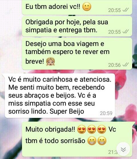 WhatsApp Sara Müller e Olhos Verdes