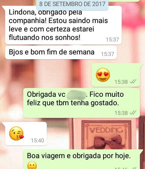 WhatsApp Sara Müller e Perseverante
