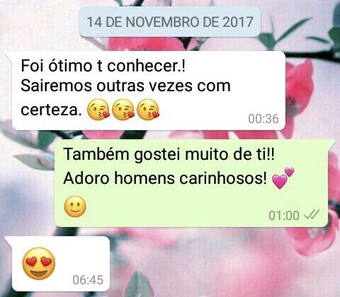 WhatsApp Sara Müller e Brando