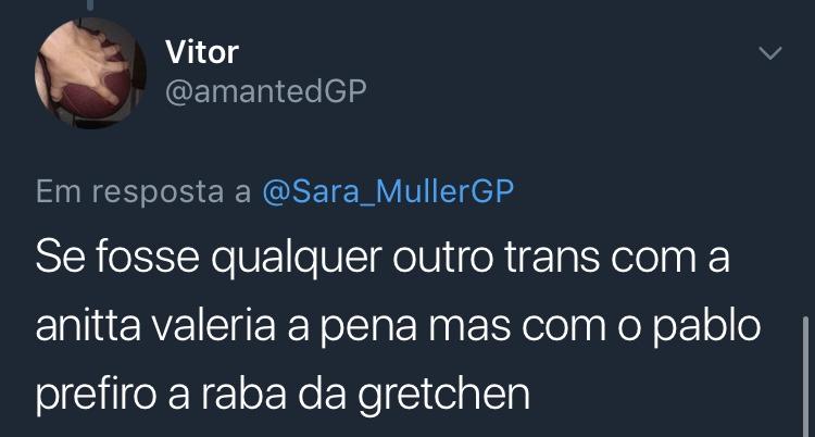 Resposta Enquete Twitter Sara Müller @amantedGP
