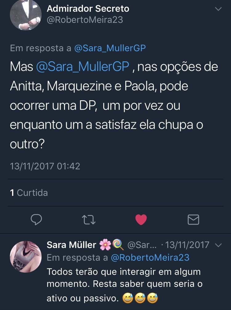 Resposta Enquete Twitter Sara Müller @RobertoMeira23