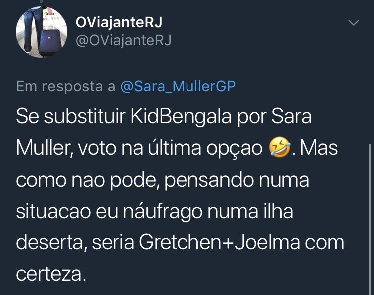Resposta Enquete Twitter Sara Müller @OViajanteRJ
