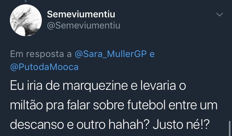 Resposta Enquete Twitter Sara Müller @Semeviumentiu
