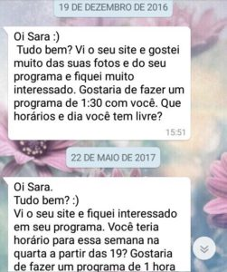 WhatsApp Sara Müller Engraçado