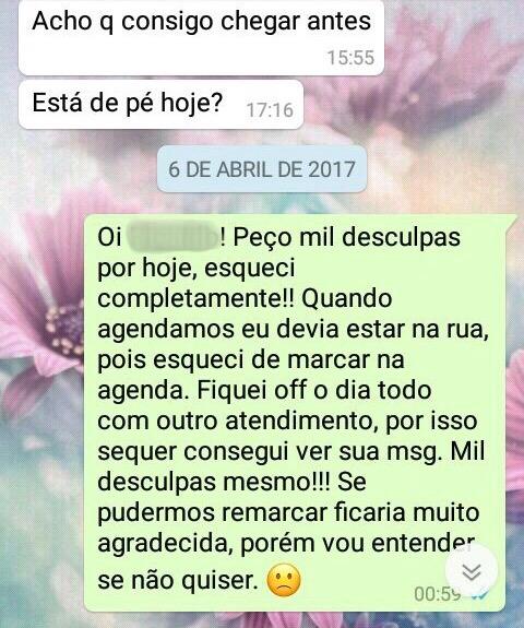 WhatsApp Sara Müller e Elétrico