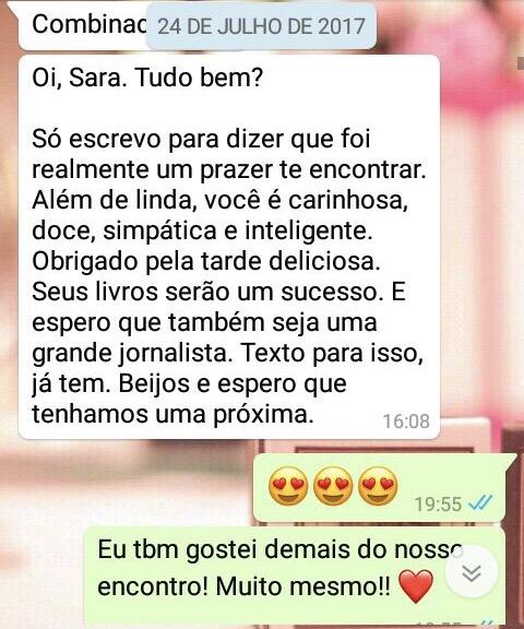WhatsApp Sara Müller e Excitante