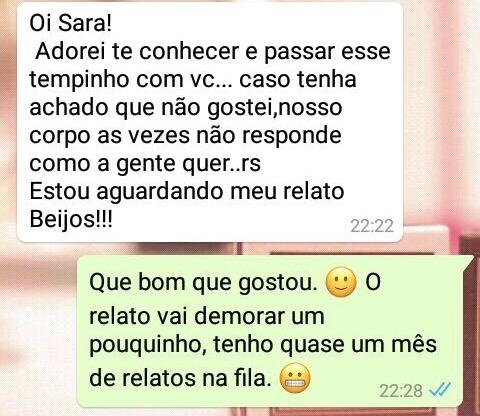WhatsApp Sara Müller e Acanhado