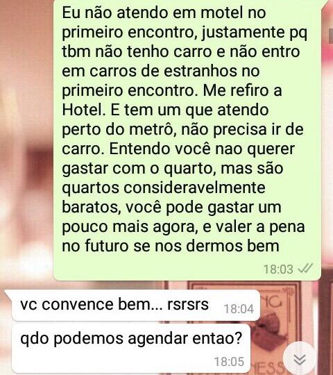 WhatsApp Sara Müller e Culto