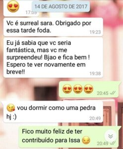 WhatsApp Sara Müller e Alegre